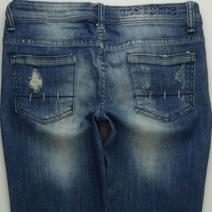 Machine Destroyed Skinny Jeans Juniors 3 A196J